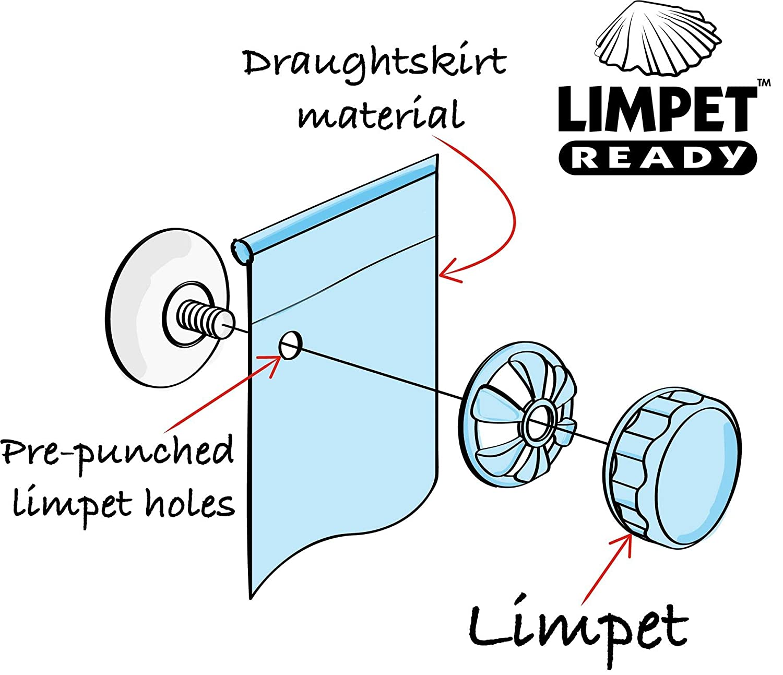 Limpet Ready Kampa Draught Skirt 2m x 70cm Universal Caravan /& Motorhome