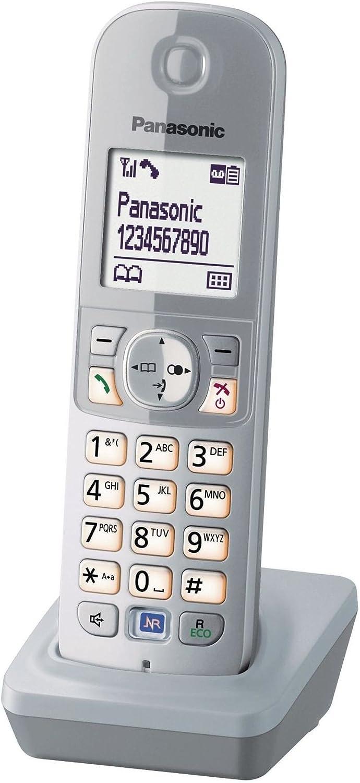 Panasonic teléfono adicional KX-TG681 para KX-TG68xx incl. cargador plata (importado) [versión importada]