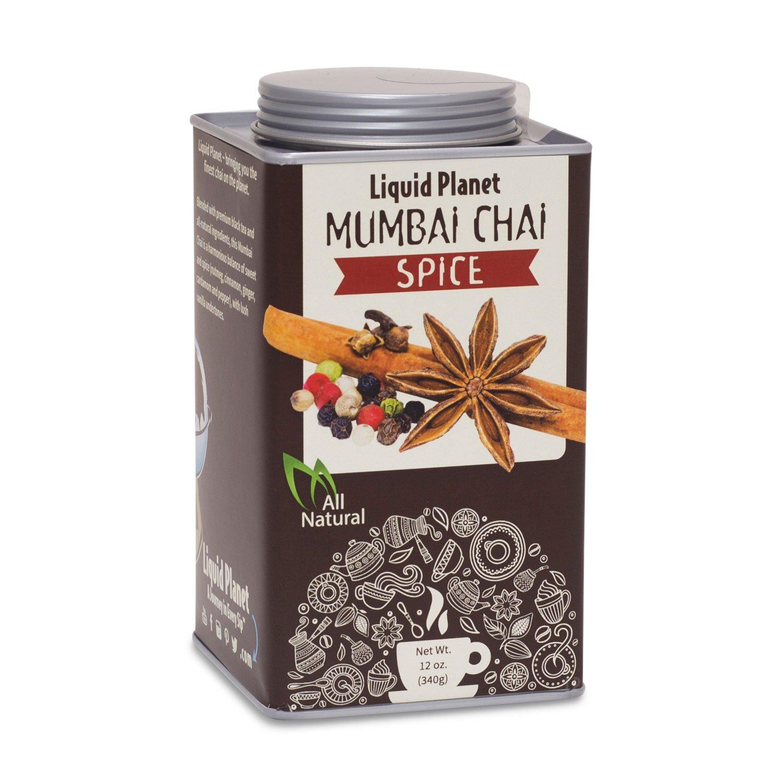 Amazon.com : All-Natural Chai Tea, Chai Powder in 12oz Tin From Liquid Planet (Mumbi Vanilla) : Grocery & Gourmet Food