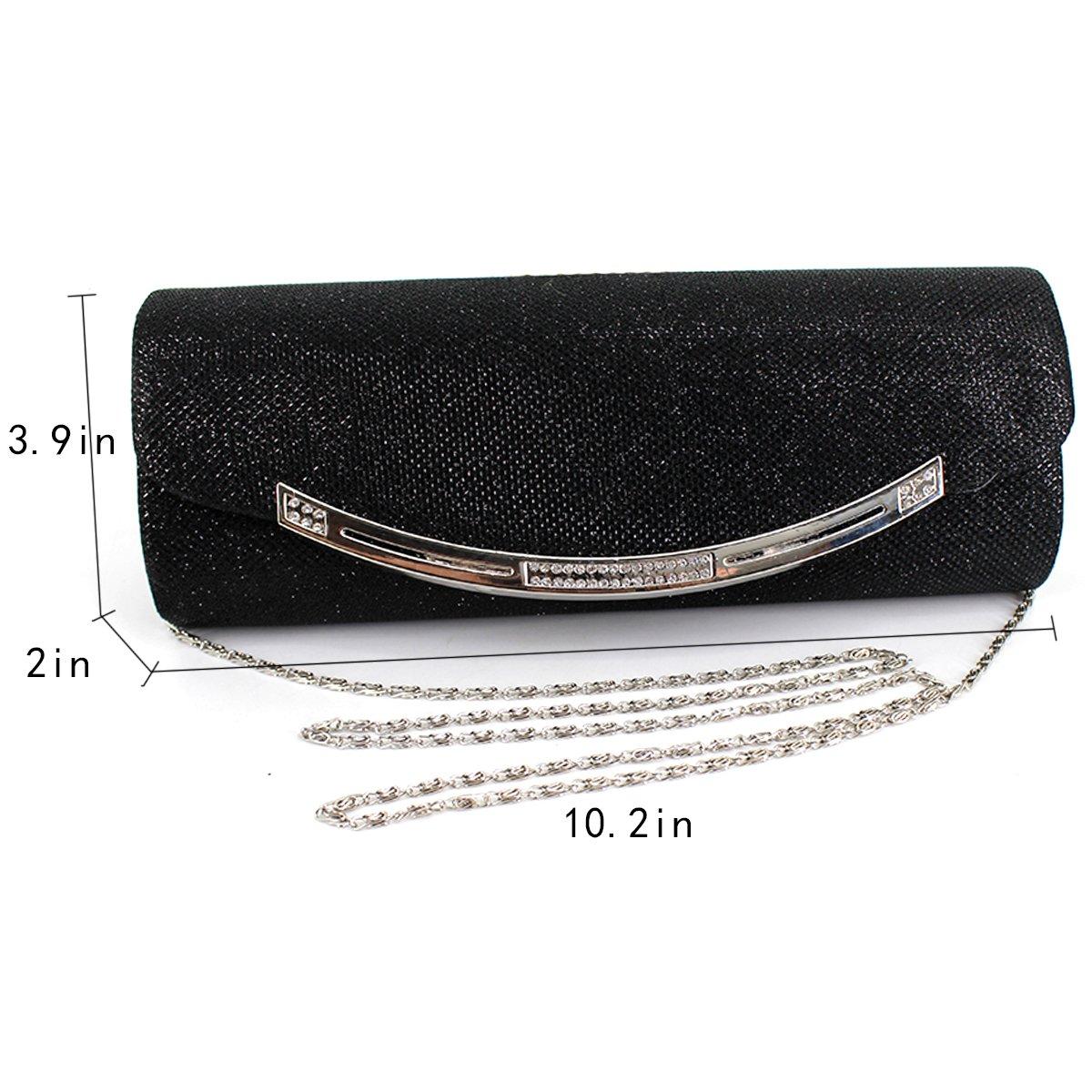 Heidi Bag Glitter Sequin Clutch Purse Evening Bag Wedding Ball Prom Clutch  Chain Shoulder Bag  Handbags  Amazon.com e05668452aa9