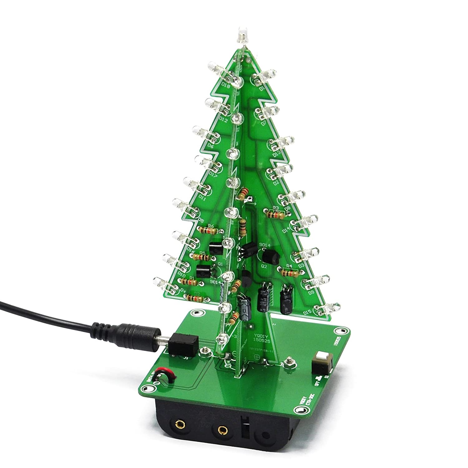 Amazon.com: Gikfun 3D Xmas Tree Led Diy Kits 7 Color Flash Circuit ...