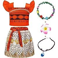 Jurebecia Disfraz Moana Vestido Moana para Niñas Conjuntos de Aventura Conjunto para niñas Vestidos de Princesa Ropa…