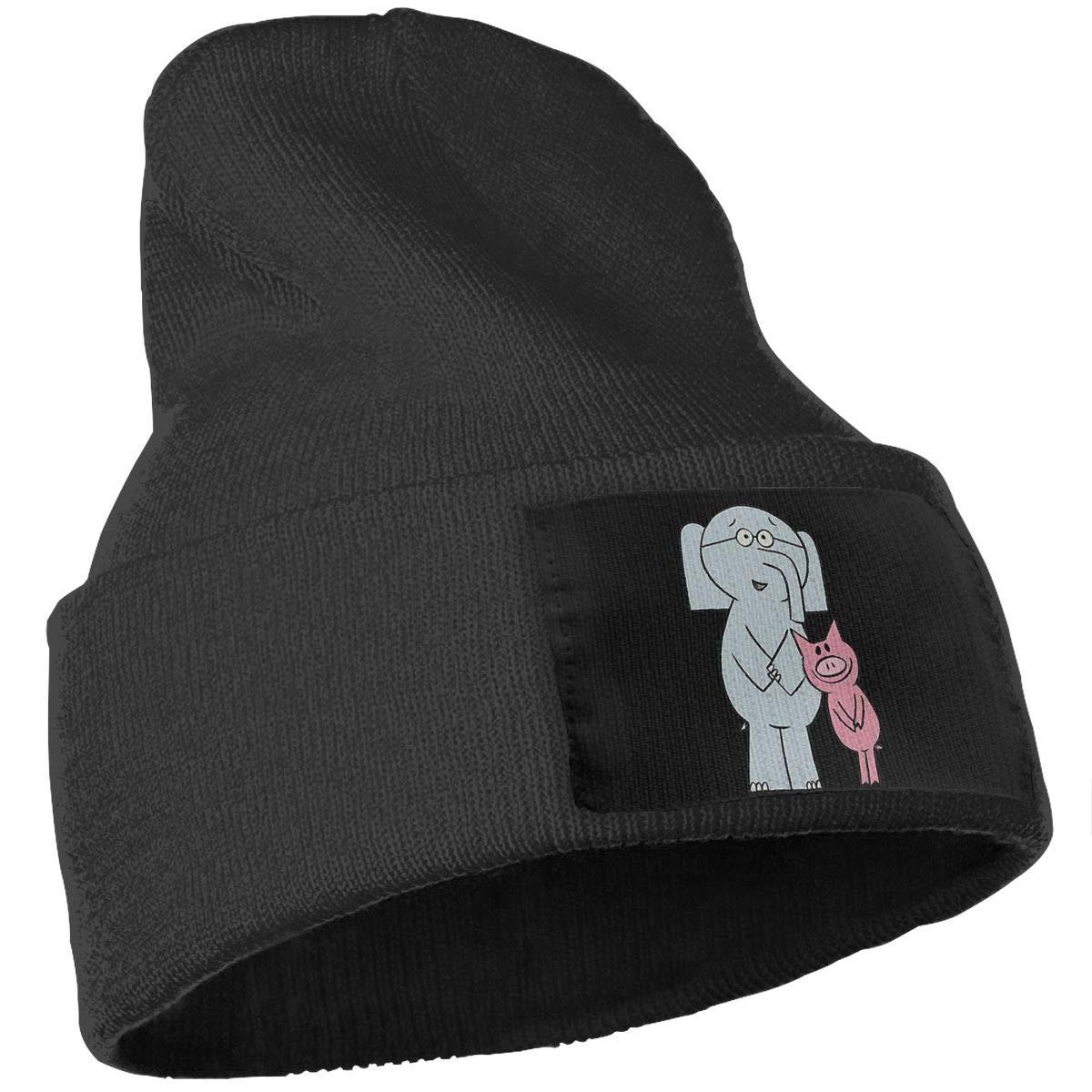 SLADDD1 Elephant and Piggie Warm Winter Hat Knit Beanie Skull Cap Cuff Beanie Hat Winter Hats for Men /& Women