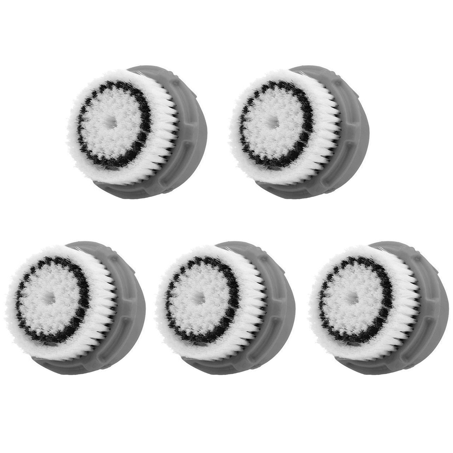 LSQtronics Normal skin Facial Brush Heads for Clarisonic. Face Cleansing Brush Heads for Daily Skin Care. Compatible with Clarisonic MIA, MIA 2, ARIA, PRO and PLUS Cleansing Systems. (5-Pack Normal skin Brush Head)