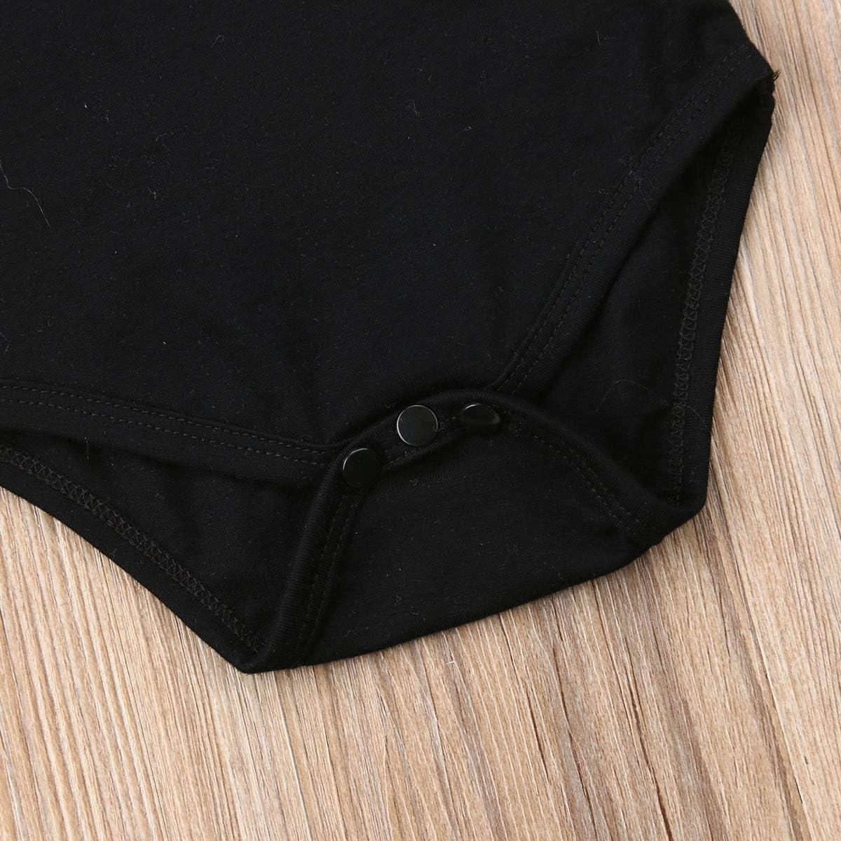 Fascia a Righe Tuta Bambina Bimba Body Carolilly 3 Pezzi Completo Pagliaccetto Neonata Nero a Maniche Lunghe+Pantaloncini Leopardati