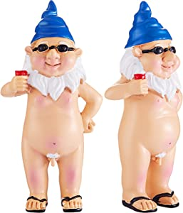 Funny Naked Gnome Statue Garden Goblin-Art Decoration Resin Peeing Dwarf Naughty Garden Statue Decoration Fun Gnomes for Home Indoor or Outdoor Lawn Garden Decorations (Standing Male)