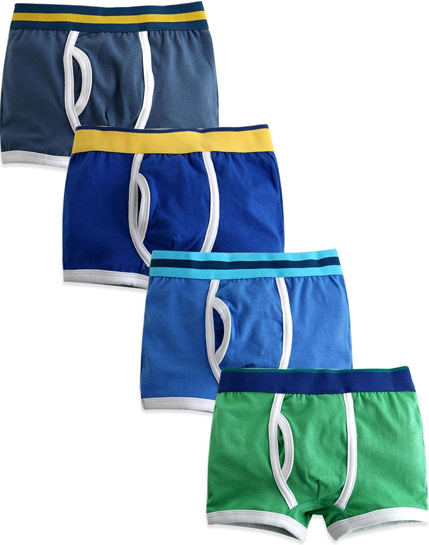 7 Pack Underwear Set Soft Comfort Breathable Cool Vaenait baby 2T-8T Toddler Kids Boys Boxer Briefs 3 4
