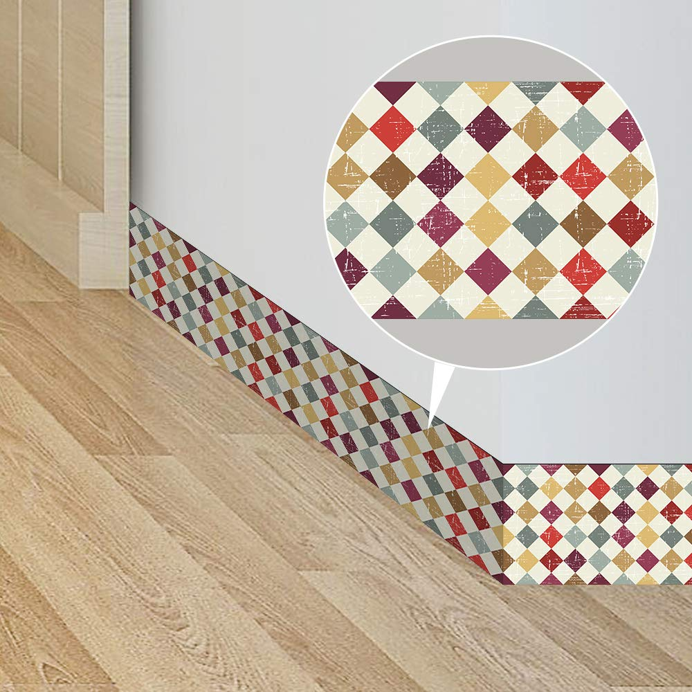 Bordü re Tapeten Wallpaper Borders 10 X 800cm fü r Wand, Fliesen, Wohnzimmer, Bad, Kü che(Geometrische Muster) Hongjing