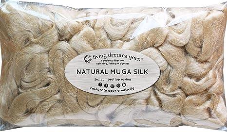 Muga de fibra de seda para Spinning, Mezcla, fieltro, teñido y ...