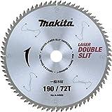 マキタ(makita) チップソー 外径190mm 刃数72 ダブルスリット 一般木工用 スライドマルノコ用 A-44909