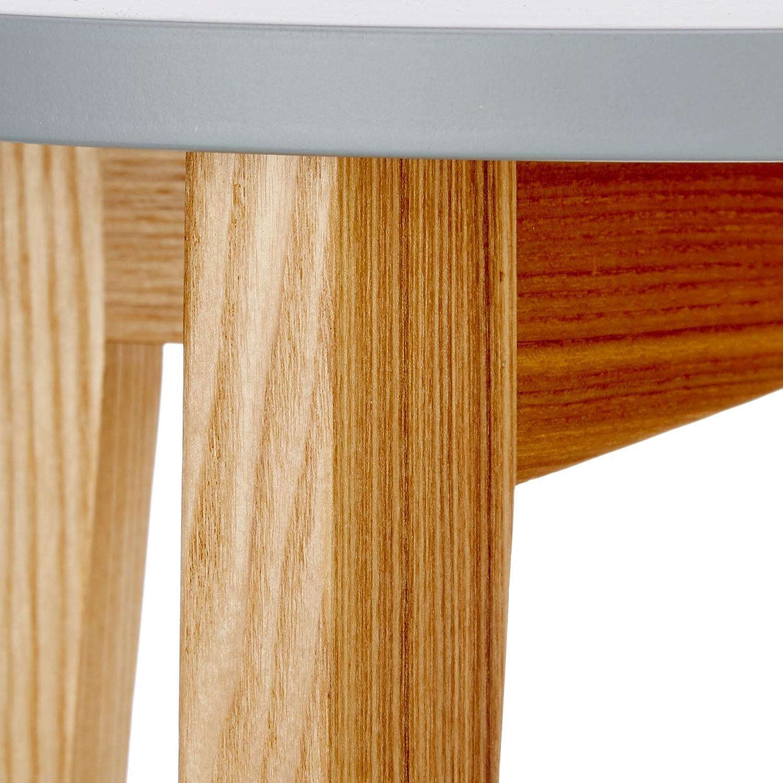 35 x 35 x 50 cm Movian Đerdap gris claro Marca Mesa lateral redonda