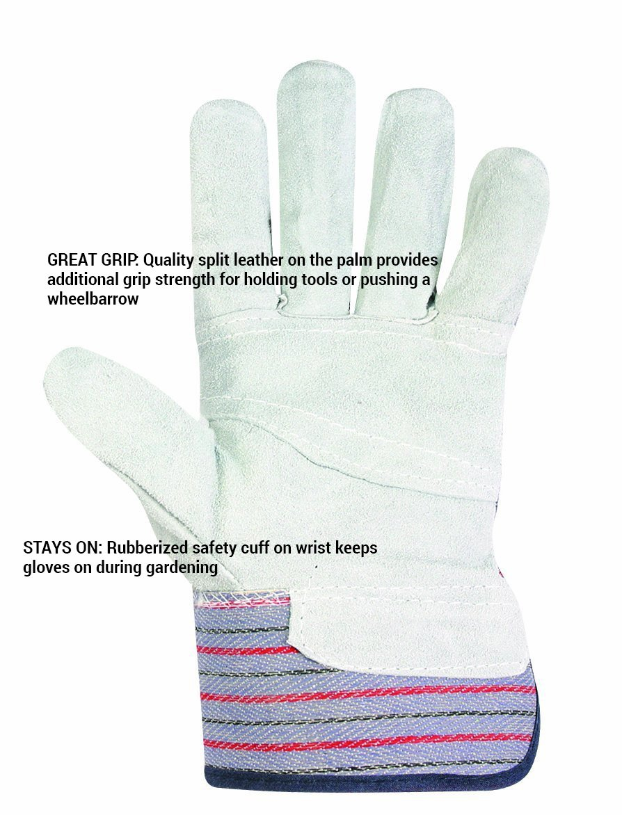 Custom Leathercraft 2046 Work Gloves with Safety Cuff and Wing Thumb, 1-Pair 2