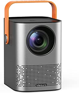 Meauro Projector,Smart WiFi Mini Projector 1080P FHD,Outdoor Portable Movie Projector with Dual Speakers,6000 Lumen,Auto Keystone Correction,80000 Hrs for Home Entertainment/Outdoor Movie