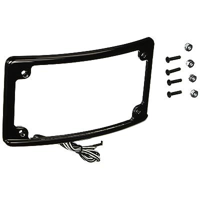 Custom Dynamics LPF-RAD-B-LP Black License Plate Frame (Radius-Style: Automotive