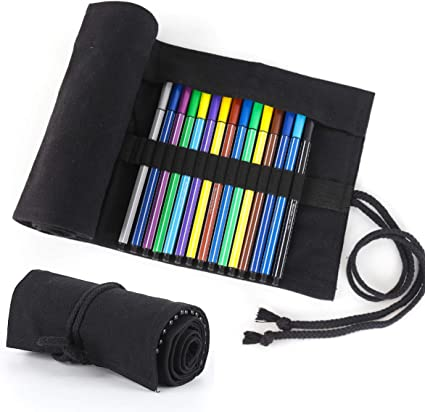 Estuche Enrollable, Yigou Bolso para Lápices para 72 lapices colores Estuche para Lápices de Lona Bolsa de Lápiz Grande Estuche Enrollable Lápices Estuche Rollo: Amazon.es: Oficina y papelería