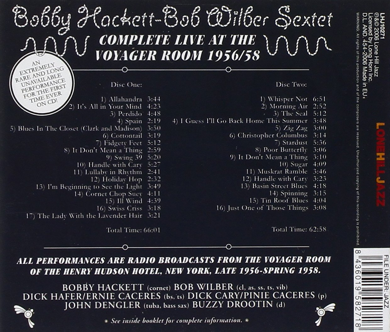 Complete Live at the Voyager Room 1956/58