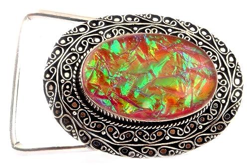 d7b03744f0d3 Indie Artisans Cinturones de ópalo Australiano para Mujer y Hombre ...