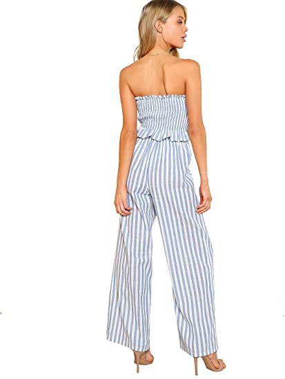 45f99c17031 Floerns Women s Strapless Tube Top and Pants Two Piece Set at Amazon  Women s Clothing store
