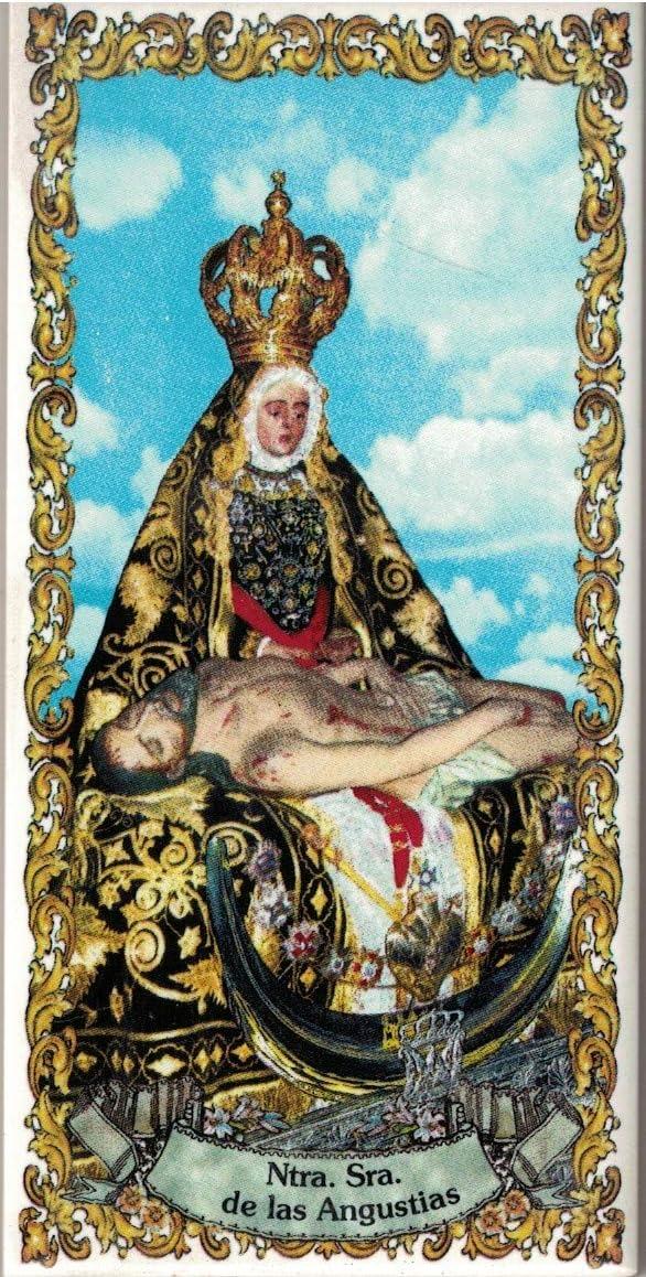 7x15 cms Cer/ámica para colgar Virgen de las Angustias de Granada Azulejo fabricado artesanalmente para decorar Calca cer/ámica TORO DEL ORO