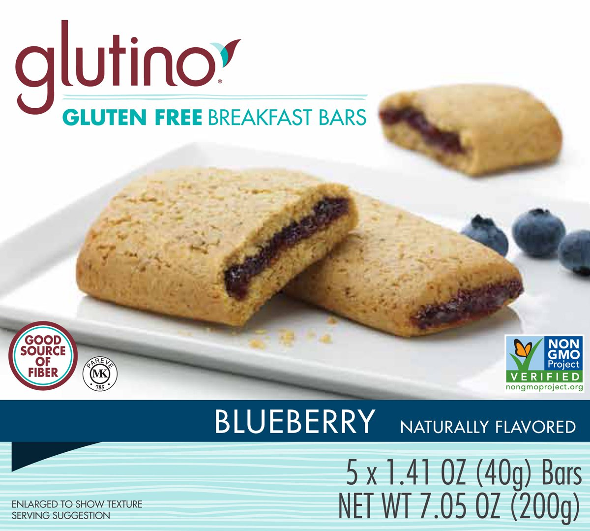 Glutino Gluten Free Breakfast Bars, Blueberry, 7.05 Ounce (Pack of 12) by Glutino