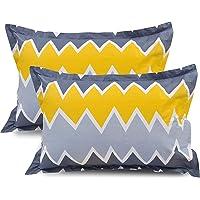 """BSB Trendz 2 Piece Cotton King Size Pillow Cover Set - 20""""x30"""" Color-Multicolor"""