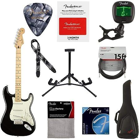 Guitarra eléctrica Fender Player Stratocaster, 22 trastes, forma moderna