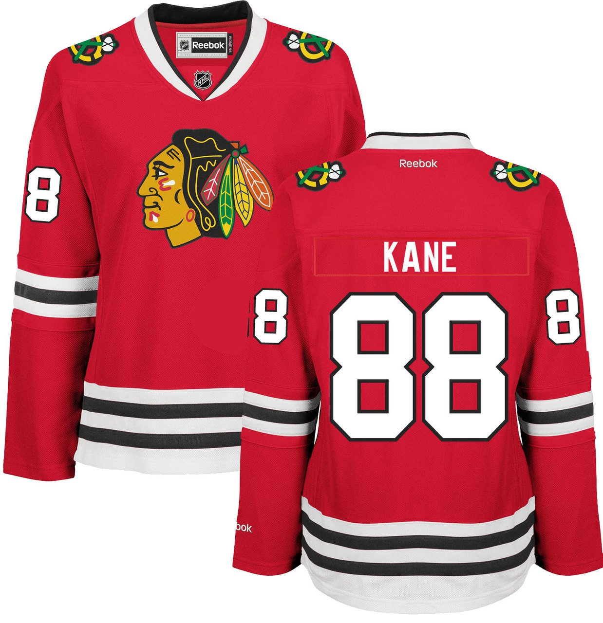 99a9a9a2f5d Amazon.com : Patrick Kane Chicago Blackhawks Home Red Women's Premier Jersey  by Reebok Select Size: Medium : Sports & Outdoors
