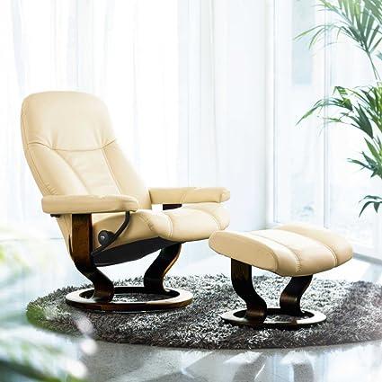 Stressless Consul M Relax sillón con taburete Cream Medium ...