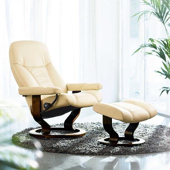 Stressless consul m fauteuil relax avec tabouret repose pieds