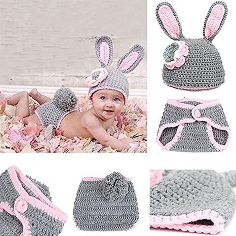 Bébé Filles Garçons Crochet Knit Costume Photo Photographie Prop Outfit