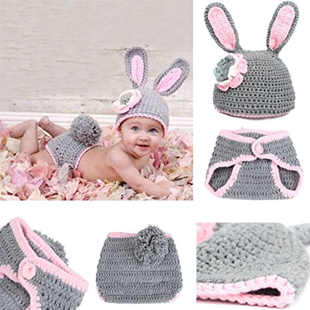 Baby Newborn Infant Boy Girl Knit Crochet Costume Photo Photography Prop Outfit Newin Star