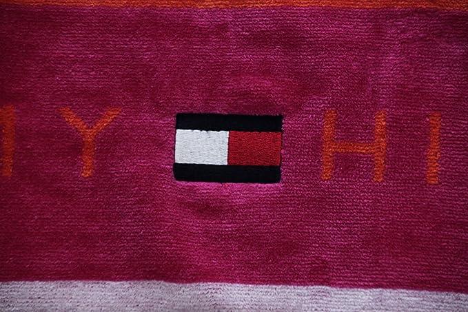 Toalla Playa o Piscina Tommy Hilfiger 100% Esponja disponible de puro algodón cm 90 x 180 Track - Fucsia: Amazon.es: Hogar