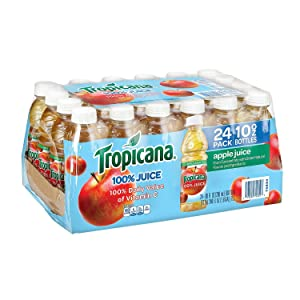 Tropicana 100% Apple Juice 10 oz. bottles, 24 pk. (pack of 4) A1