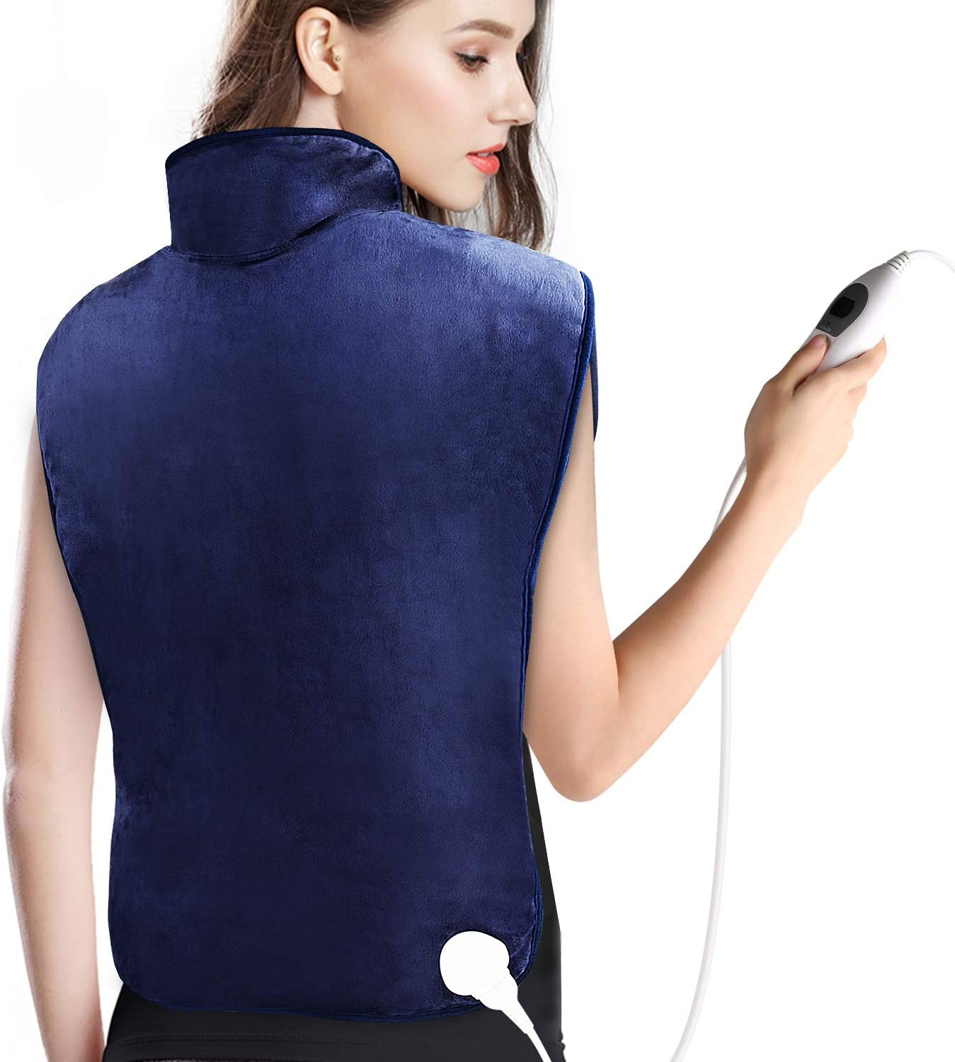 """Large Heating Pad, XXL Electric Heating Pad for Back Pain and Cramps Relief, Soft Wrap Heating Pads with Auto Shut Off, 6 Temperature Settings, ETL Certified, 25 x 35"""""""