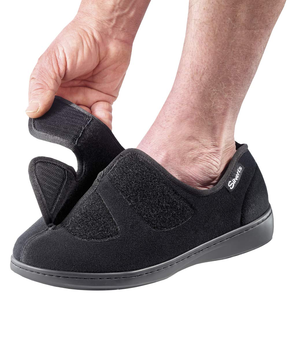 Mens Hugster Indoor/Outdoor Shoes/Slippers - Extra Wide - Black 8