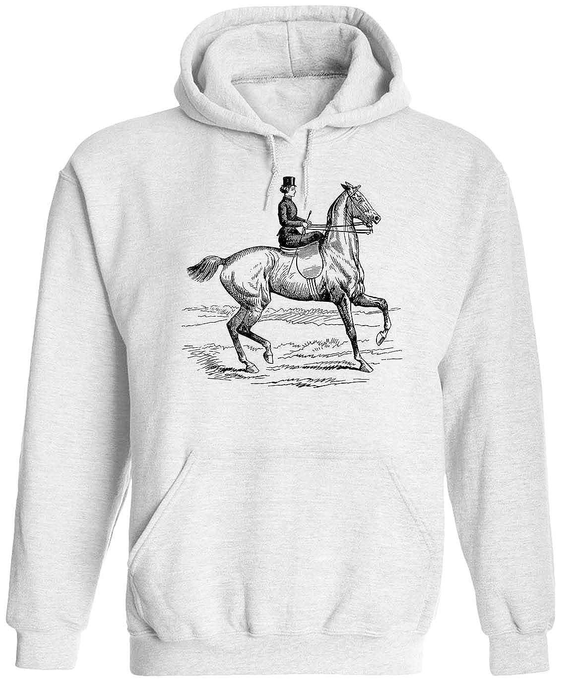 Austin Ink Apparel Spooked Horse Unisex Adult Hooded Pullover Sweatshirt