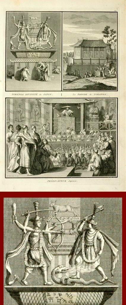Impresión antigua ThePrintsCollector - Pagoda - subsal Toranga-Japón-Picart-1728