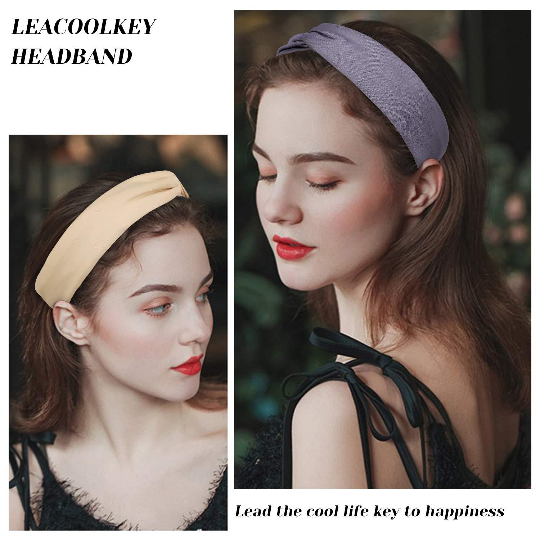 Adjustable /& Stretchy Basic Wide Headbands Yoga Running Headwrap Hair Band,8Pack Women Sport/Cross Hairband