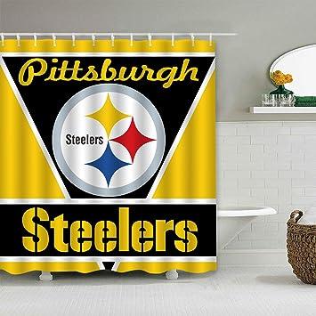 Felikey Custom Pittsburgh Steelers Waterproof Shower Curtain Colorful Bathroom