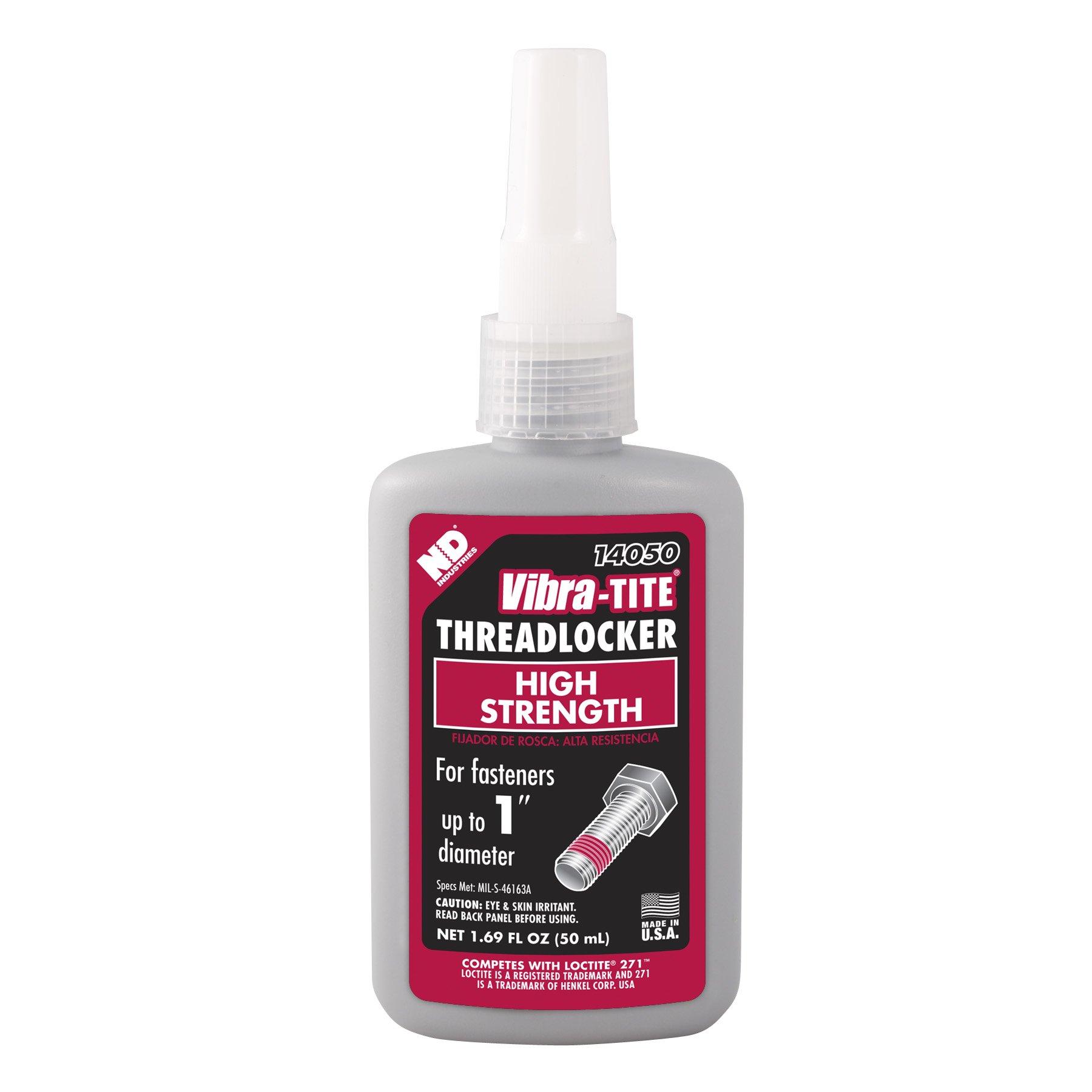 Vibra-TITE 140 Permanent High Strength Anaerobic Threadlocker, 50 ml Bottle, Red