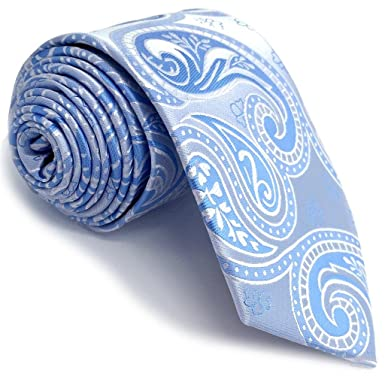 Shlax&Wing Traje De Negocios Nuevo Hombre Seda Corbatas Para Azul ...