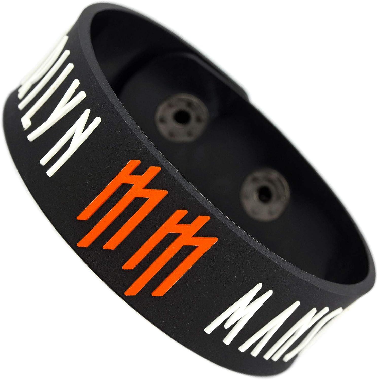 RockbandFan Marilyn Manson Wristband Rubber Bracelet