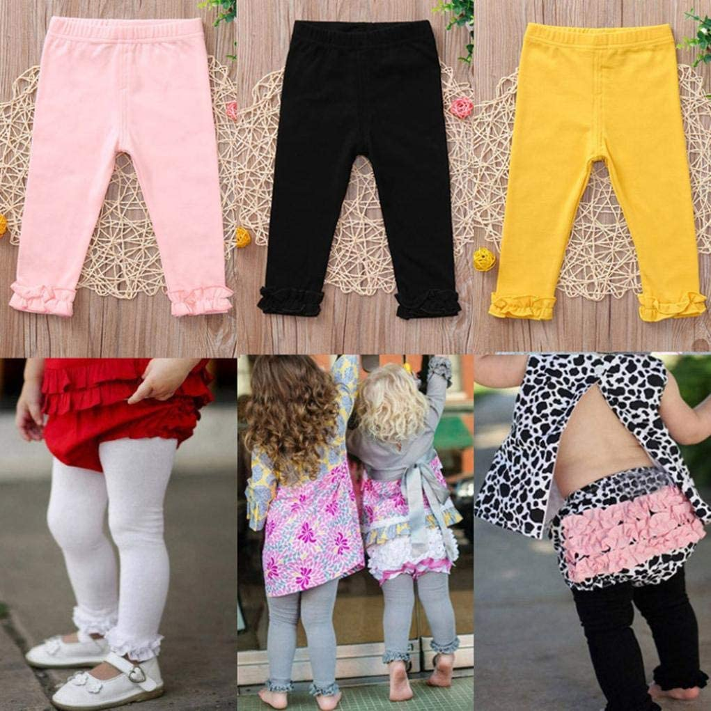 Toddler Candy Color Leggings Baby Girls Trousers Kids Cute Cotton Pants Skinny Clothes KaiCran Baby Girls Pants
