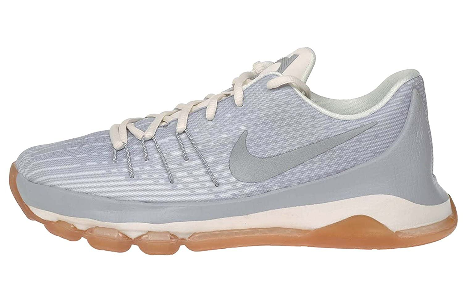 official photos 92481 342fd Nike Kids KD 8 GS, WOLF GREY/ METALLIC SILVER-WHITE, Youth Size 7
