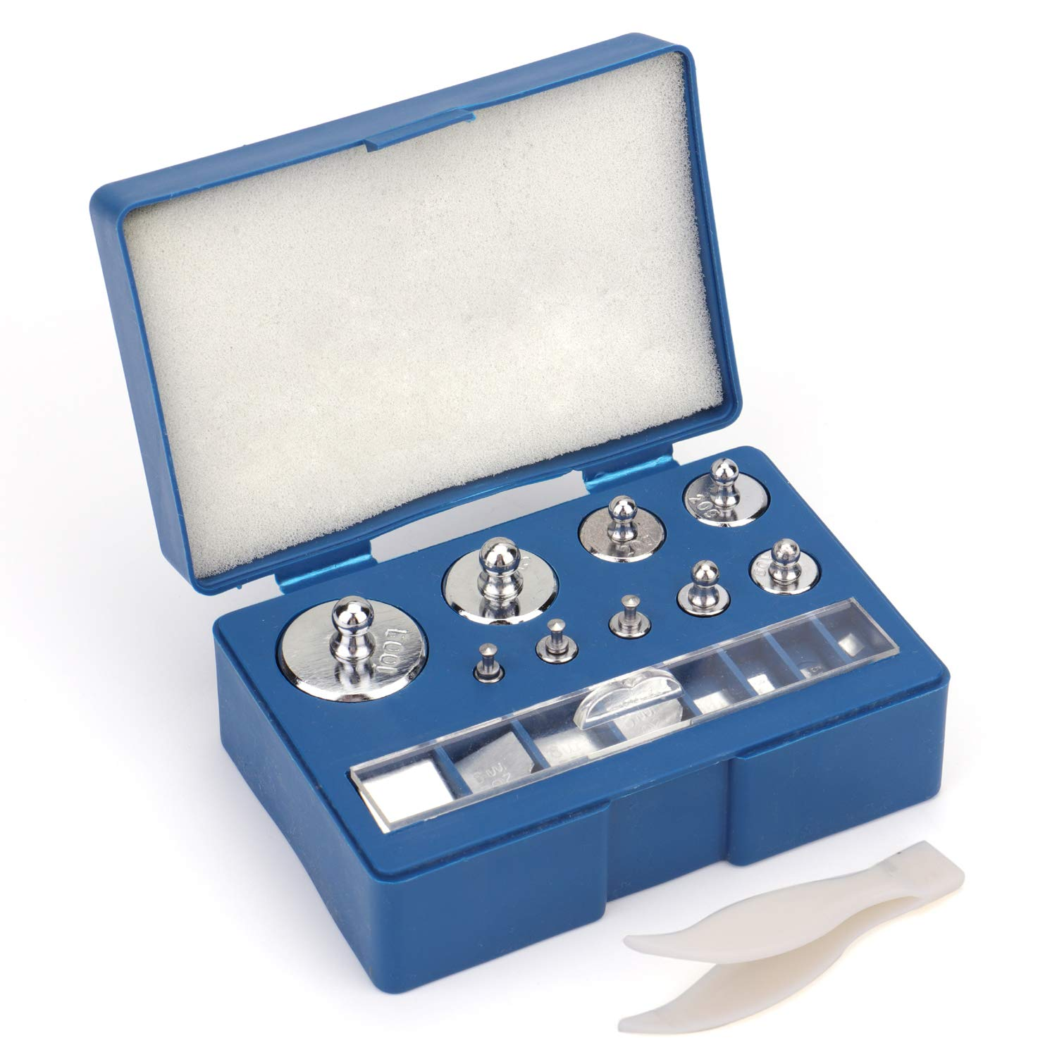 Bekith 17 Pcs Precision Weight 10mg-100g Precision Steel Calibration Weight Kit Set with Tweezers for Digital Balance Scale, Jewellery Scale by Bekith