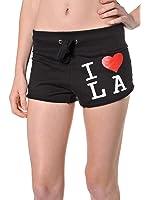 Beachcoco Women's I love LA Cotton Sweat Jersey Shorts
