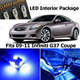 Classy Autos Infiniti G37 Coupe Blue Interior LED Package (7 Pieces)