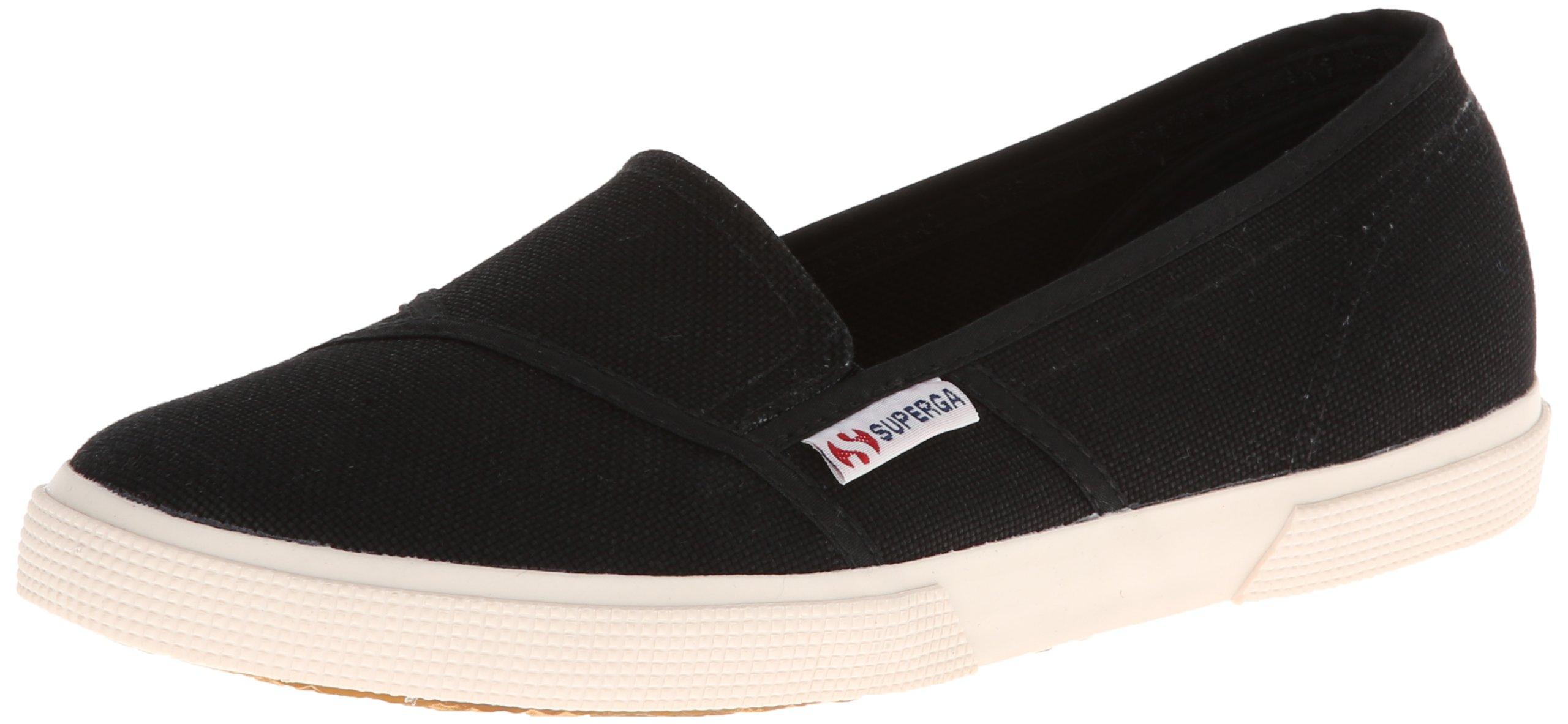 Superga Women's 2210 Cotu Fashion Sneaker, Black, 41 EU/9.5 M US