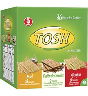 Tosh Cracker Assorted 36Oz (Pack of 36 un)