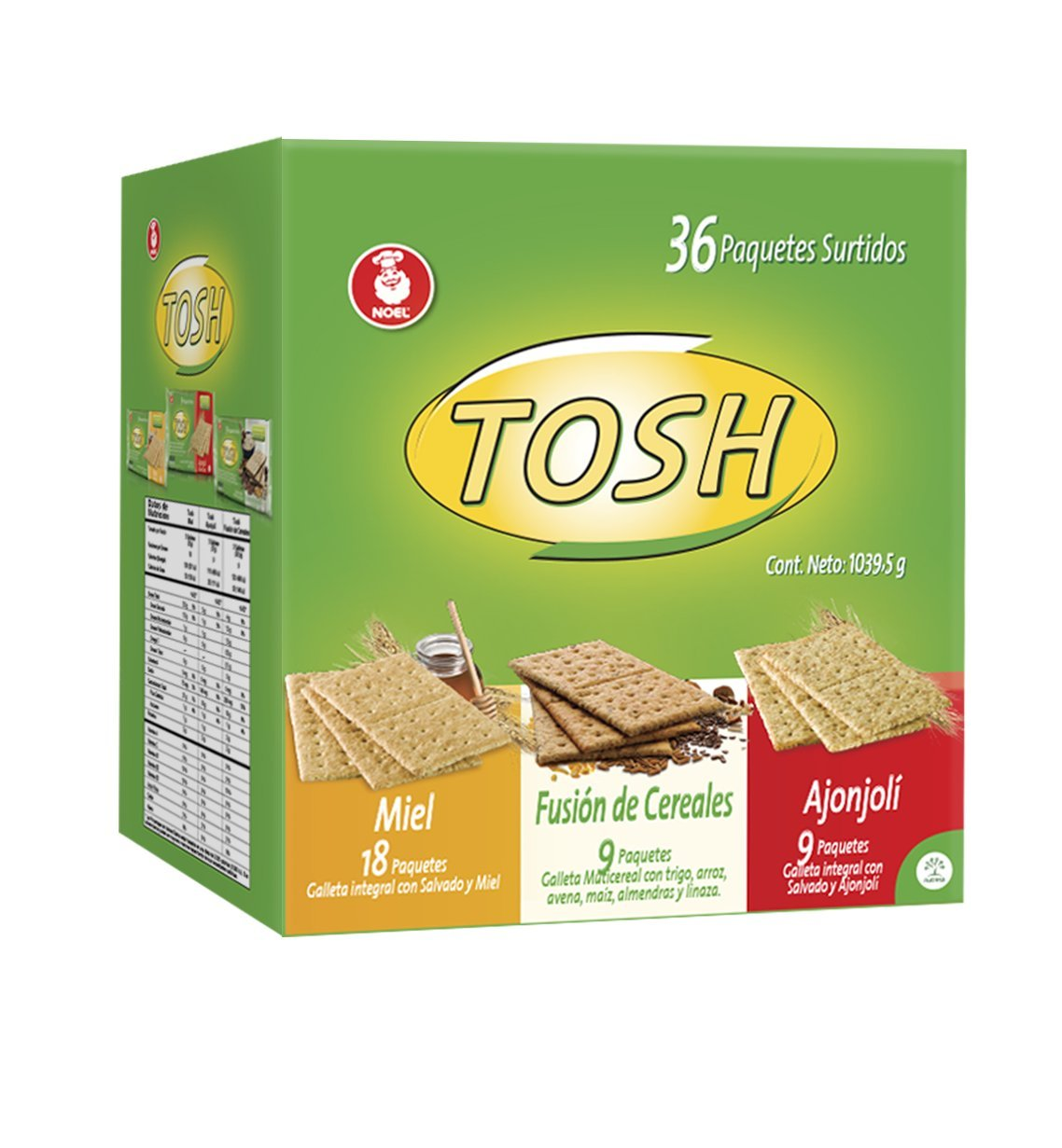 Tosh Cracker Assorted 36Oz (Pack of 36 un) Noel
